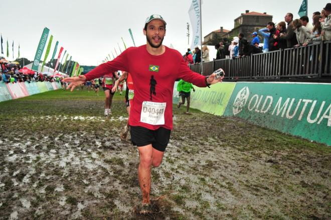Chegada da Two Oceans Marathon, ultramaratona de 56 km na Cidade do Cabo - África do Sul